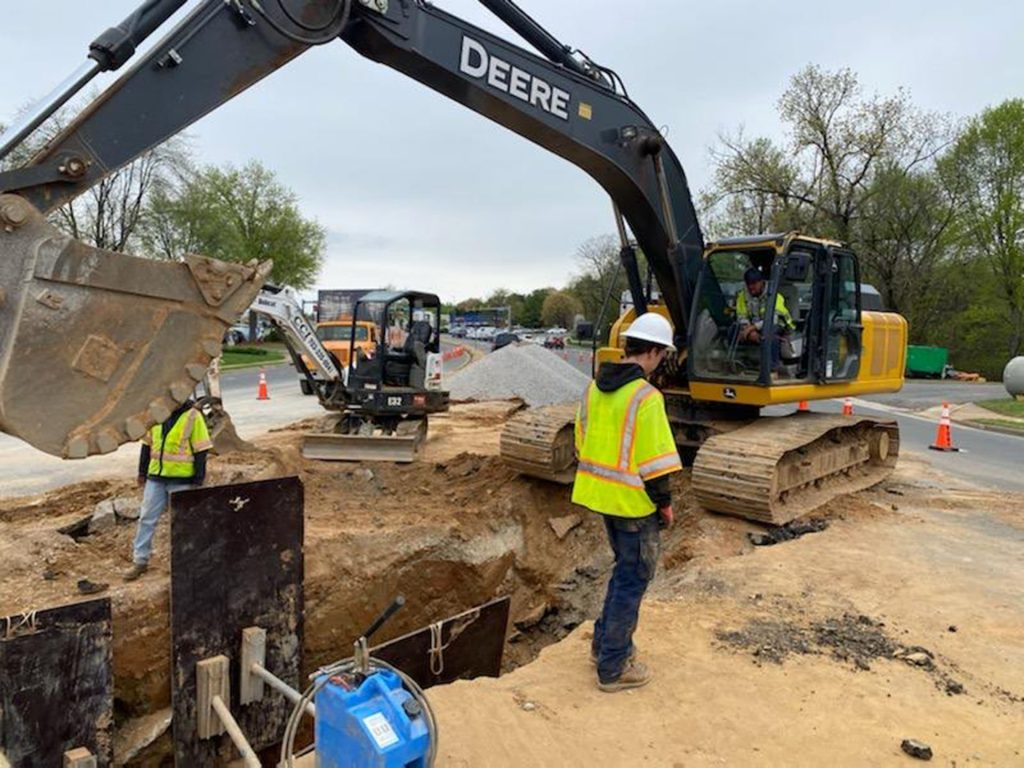 Sinkhole Stormwater Pipe Replacement Continuing In Dale City