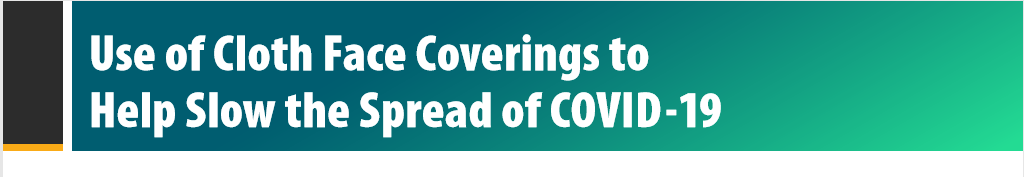 CDC Update COVID-19 Face Coverings
