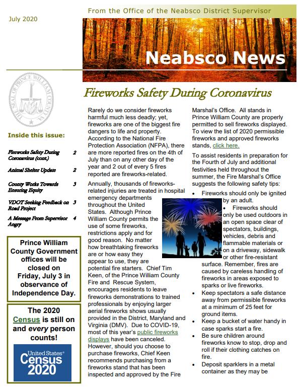Neabsco Newsletter July 2020