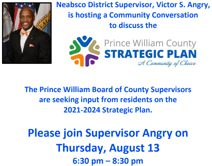 2021 through 2024 Prince William County Strategic Plan Community Conversation