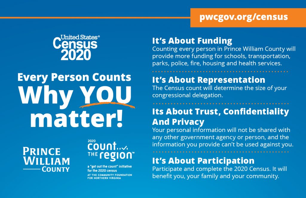 2020 Prince William County Outreach for 2020 Census