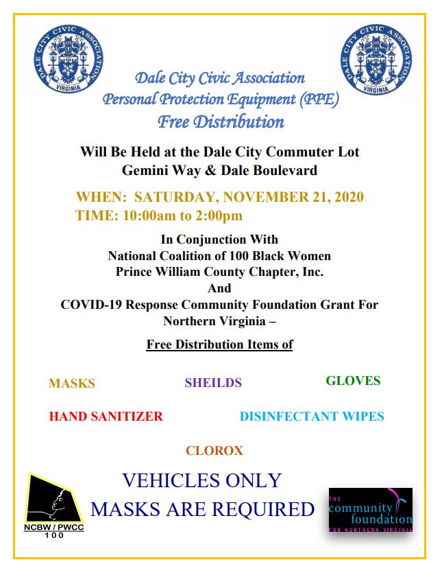Dale City Civic Association PPE Distribution