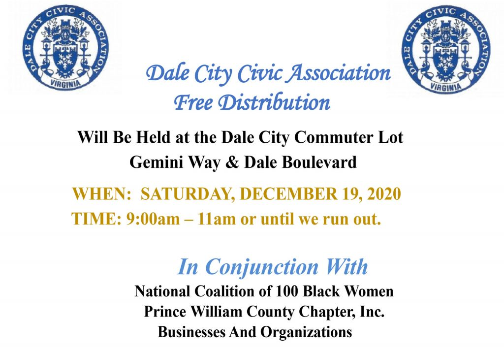 2020 Free Food Distribution Dale City