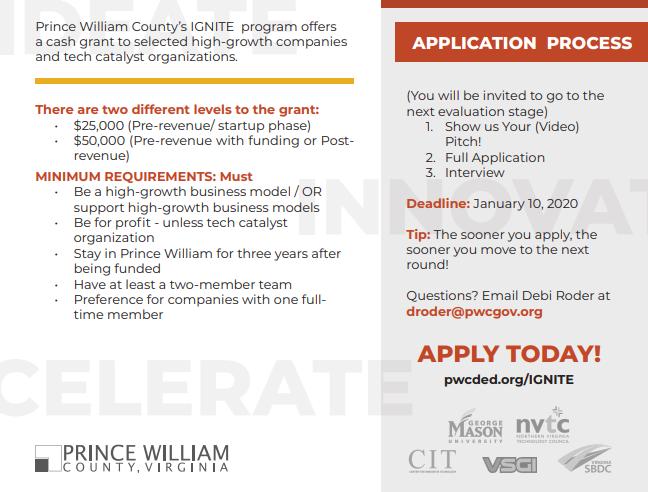 Prince William County Ignite Business Grant Program
