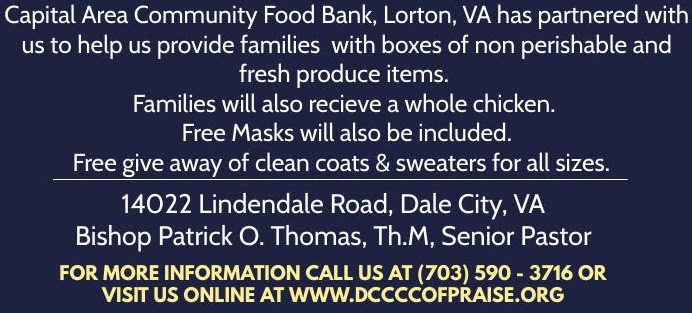 Dale City Christian Church Community Food Giveaway