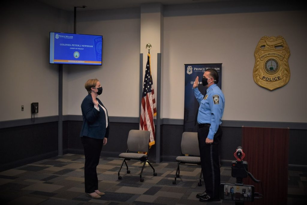 Newsham Sworn In as Fifth Police Chief for Prince William County