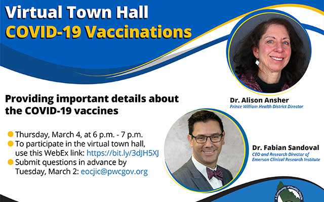 Prince William County Health District Virtual Town Hall Covid19 Vaccinations