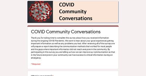 2021 COVID Community Conversations