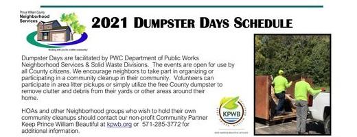 2021 Dumpster Day Neabsco