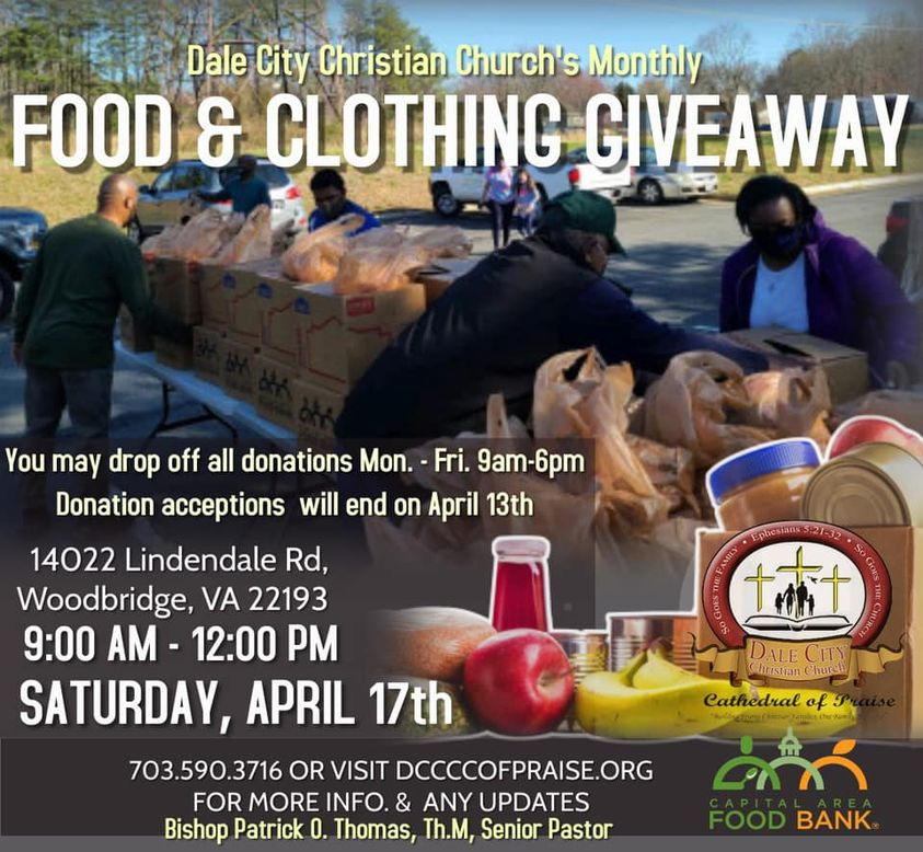 Dale City Christian Church Food And Clothes Giveaway