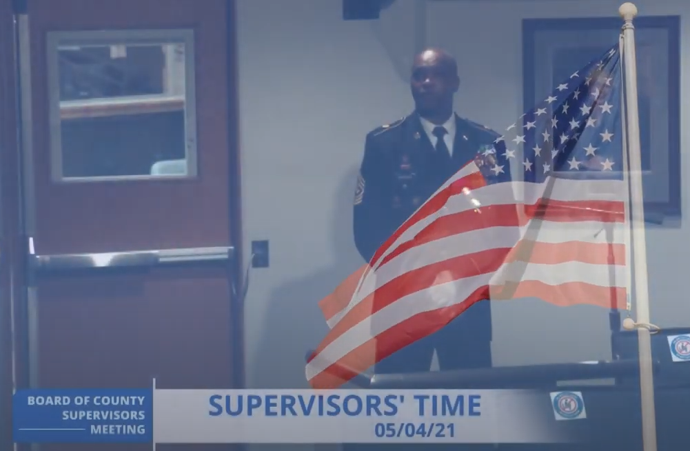 Prince William County Board Meeting American Flag