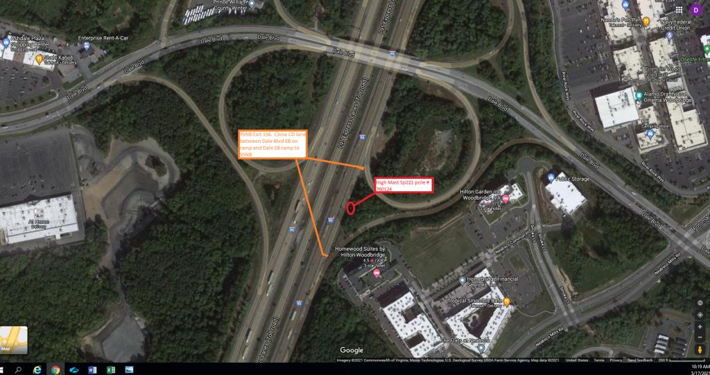 Ramp and CD Lane Closure at I95 Corridor