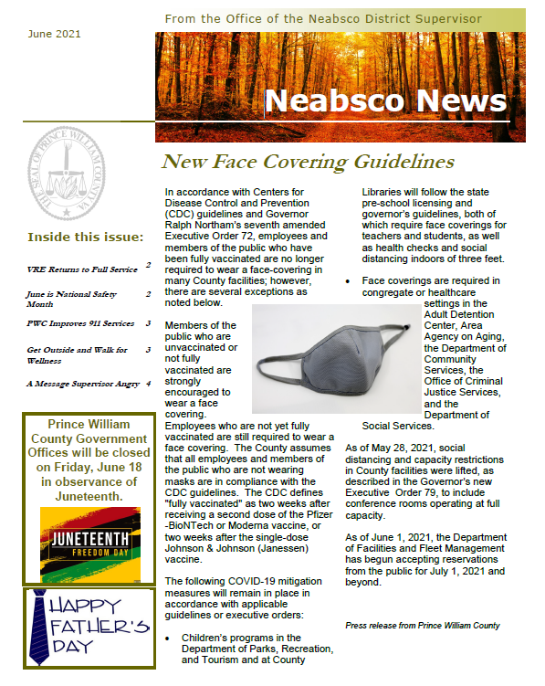 Neabsco Newsletter June 2021