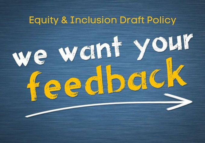 Equity and Inclusion Draft Policy