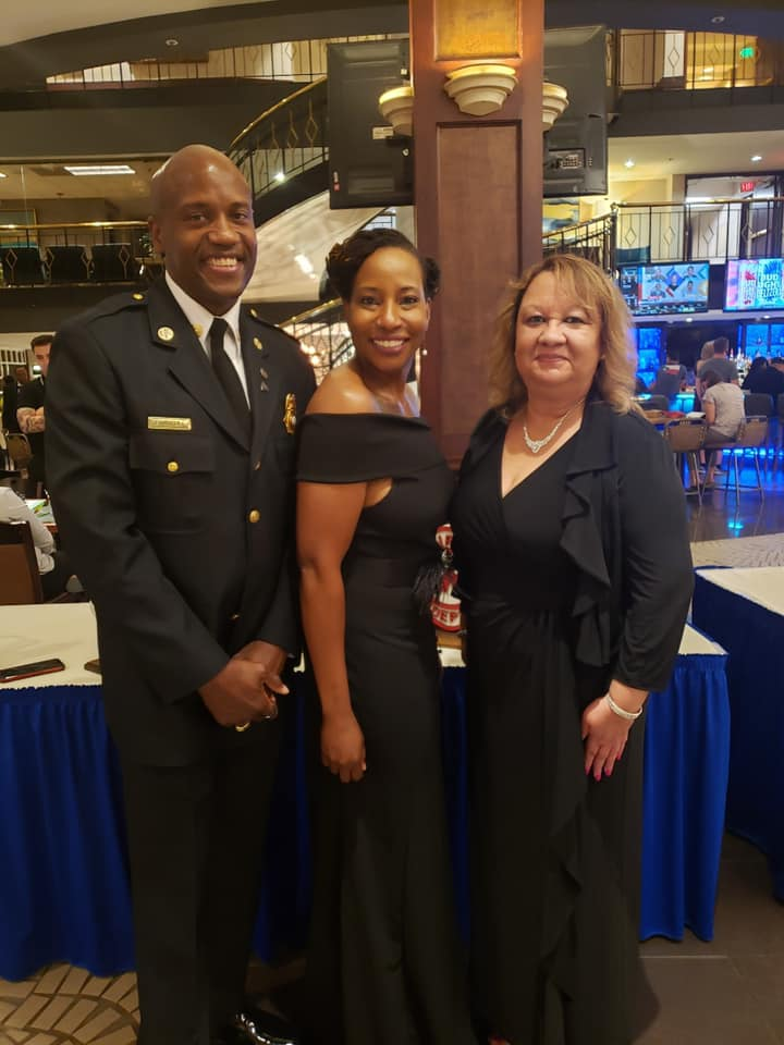 AMVET ceremony honoring Supervisor Angry and other Firefighters and Veterans