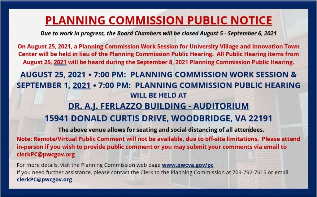 2021 Planning Commission Public Notice and Public Hearing