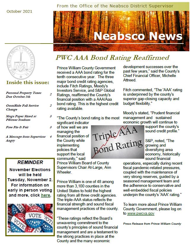Neabsco Newsletter September 2021