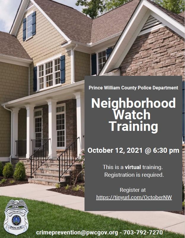 Virtual Neighborhood Watch Training